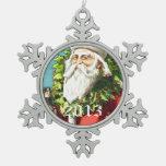 Vintage Santa with Nutcracker Ornaments