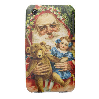 Vintage Santa with Teddy and Dolls iPhone 3 Case-Mate Case