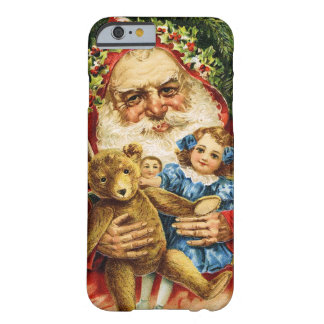 Vintage Santa with Teddy and Dolls Barely There iPhone 6 Case