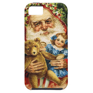 Vintage Santa with Teddy and Dolls iPhone 5 Cases