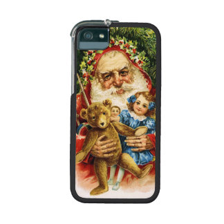 Vintage Santa with Teddy and Dolls Case For iPhone 5/5S