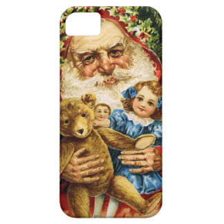 Vintage Santa with Teddy and Dolls iPhone 5 Covers