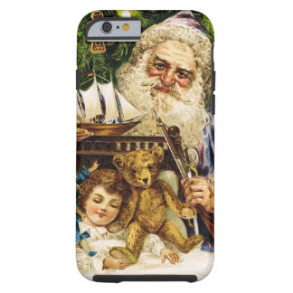 Vintage Santa with Teddy and Ship Tough iPhone 6 Case