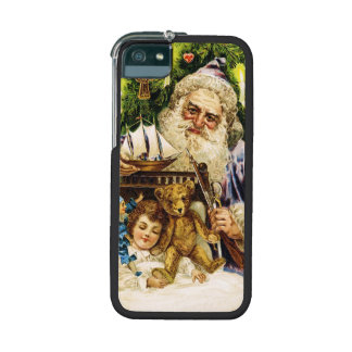 Vintage Santa with Teddy and Ship Case For iPhone 5