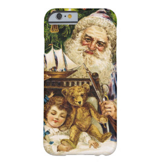 Vintage Santa with Teddy and Ship Barely There iPhone 6 Case