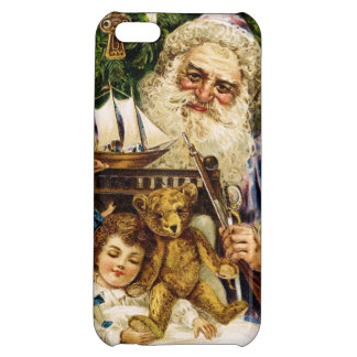 Vintage Santa with Teddy and Ship Cover For iPhone 5C