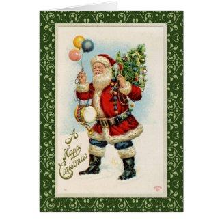 Vintage Santa wtih Balloons Greeting Cards