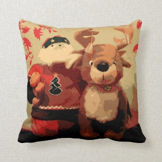 Vintage Santa y almohada de Rudolf
