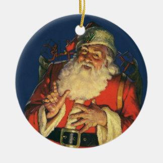 Vintage Santa y invierno