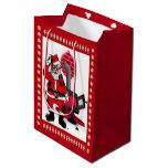 Vintage Santa y un bolso del regalo del MED de la Bolsa De Regalo Mediana