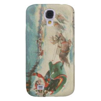 Vintage Santa's Sleigh and Reindeer Galaxy S4 Covers