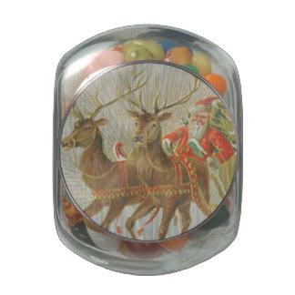 Vintage Santa's Sleigh Jelly Belly Candy Jar