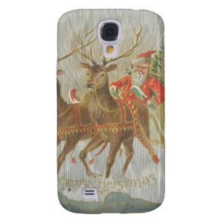 Vintage Santa's Sleigh Samsung Galaxy S4 Cases