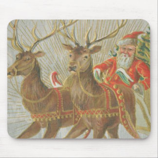 Vintage Santa's Sleigh Mouse Pad