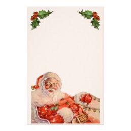 Vintage Santas Sleigh Ride Stationery