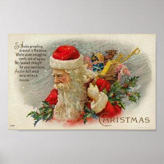 Vintage Sants Christmas St. Nick Card Posters