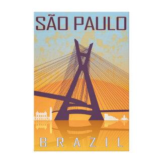 Vintage Sao Paulo poster Canvas Print