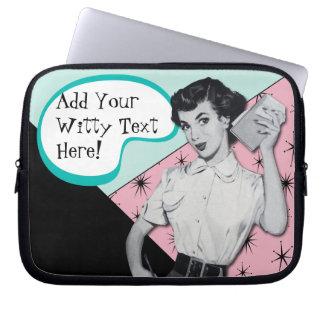 Vintage Sassy Secretary Laptop Sleeve