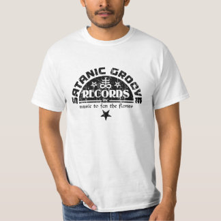 Vintage Satanic Cross & Pentagrams Logo T-Shirt
