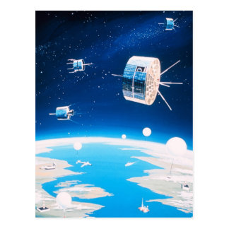 Vintage Satellite illustration Post Card