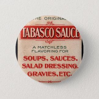 Vintage Sauce Box Advertisement Pinback Button