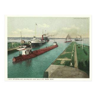 Vintage Sault Ste. Marie Postcard