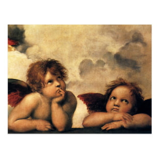 Vintage Save the Date! Angels by Raphael Post Card