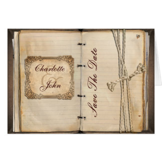vintage save the date announcement greeting cards
