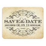 Vintage Save the Date Card | Elegant Flourish Custom Invitations