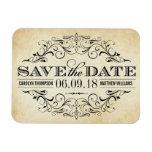 Vintage Save the Date   Elegant Flourish Rectangular Photo Magnet
