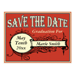 graduation party save the date postcards zazzle