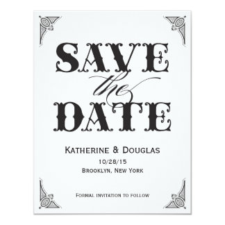 Vintage Save the Date invitation