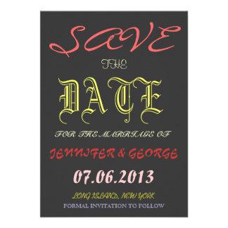 Vintage Save the Date Invitation Announcement