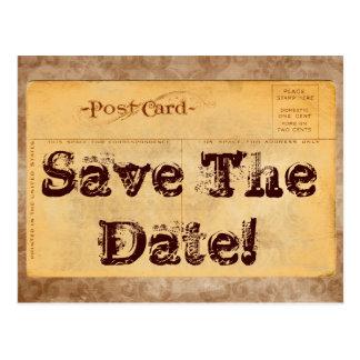 Vintage Save The Date! Invitation Postcard