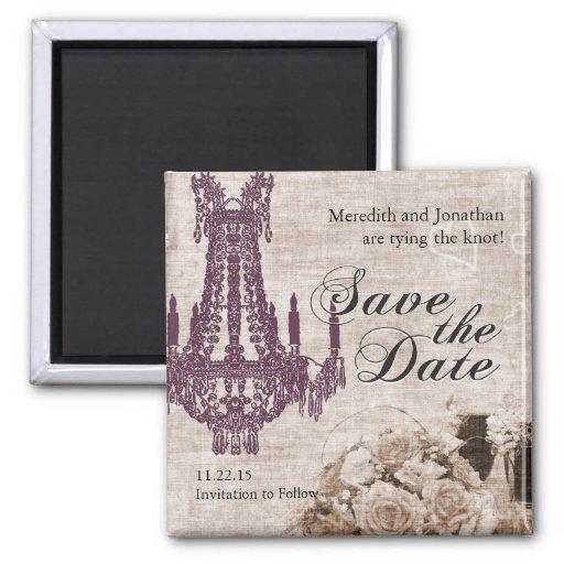 Vintage Save the Date Magnet
