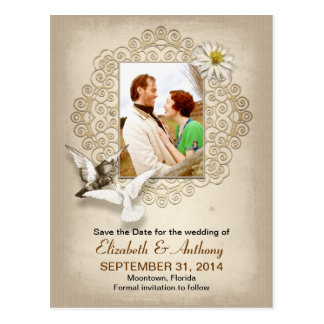vintage save the date photo postcards