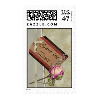 Vintage Save the Date Postage