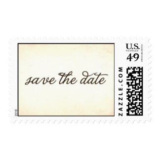 vintage save the date postage stamp