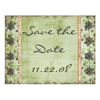 Vintage Save the date Post Card