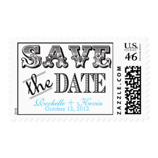 Vintage Save the Date Stamp Stamps