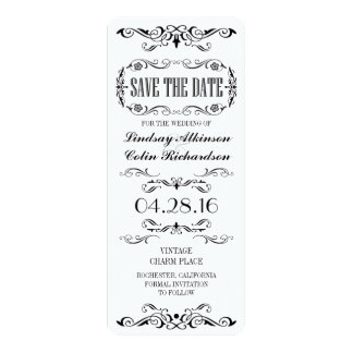 Vintage Save The Date Ticket Card