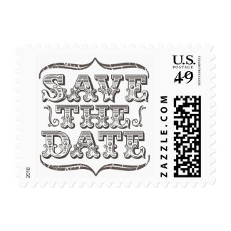 Vintage Save the Date Typography Postage