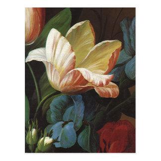 Vintage Save the Date! Victorian Tulip Flowers Postcard