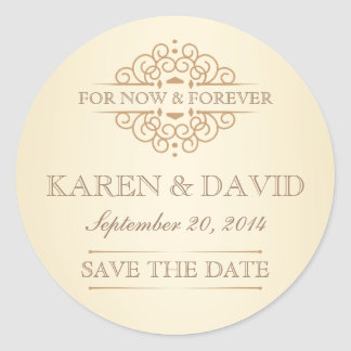 Vintage Save the Date Victorian Wedding Labels