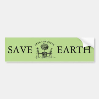 Vintage Save the Trees Bumper Sticker 1