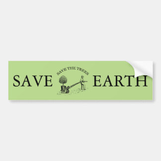 Vintage Save the Trees Bumper Sticker 2