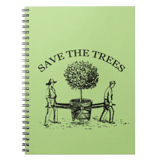 Vintage Save the Trees Notebook 1