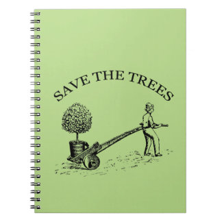 Vintage Save the Trees Notebook 2