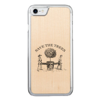 Vintage Save the Trees Wooden Iphone 1 Carved iPhone 8/7 Case