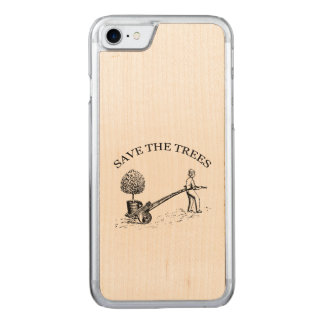 Vintage Save the Trees Wooden Iphone 2 Carved iPhone 8/7 Case